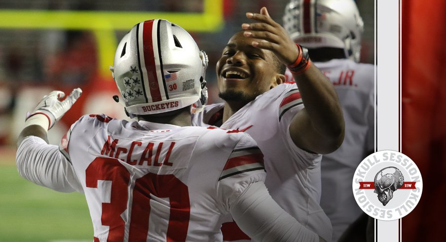 J.K. Dobbins embraces the greatest Ohio State football player for the October 19 2017 Skull Session.