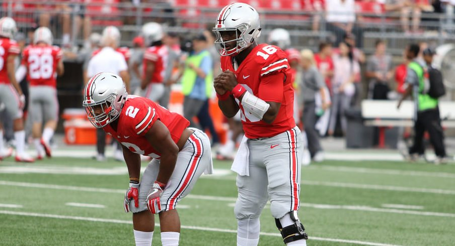 J.T. Barrett and J.K. Dobbins lead the Buckeyes in snaps played at their respective positions.