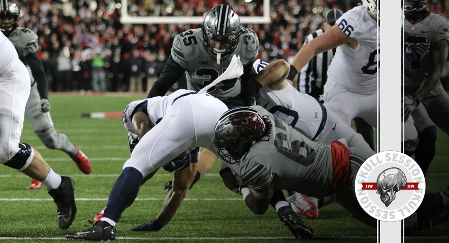 Bobby Landers puts Saquon Barkley in the dirt for the October 31st 2017 Skull Session