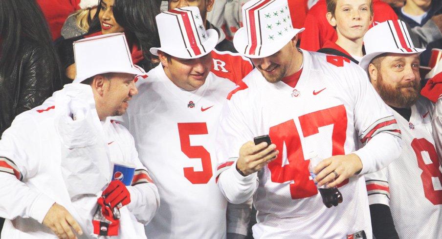 Ohio State fans enjoying
