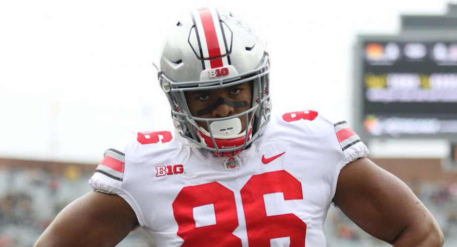 Ohio State defensive tackle Dre'Mont Jones played a season-high 62 snaps against Iowa.