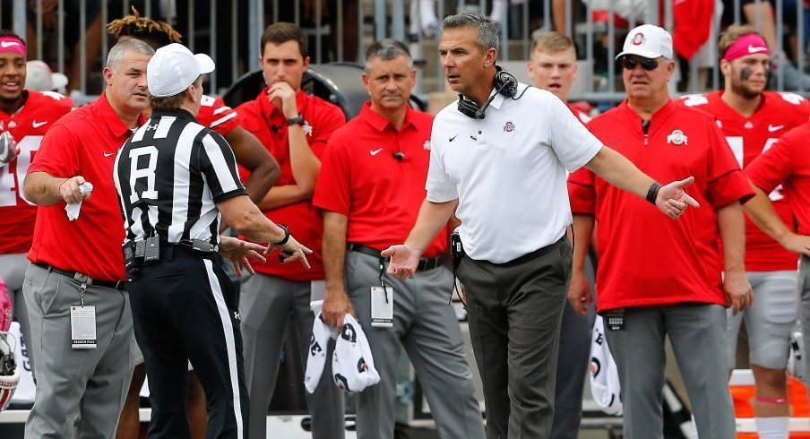 Urban Meyer's squad ranks 125th in the nation with 77.2 penalty yards per game.