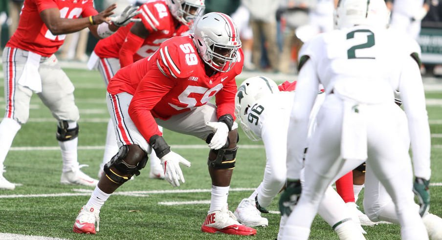Isaiah Prince (59) and Ohio State's offensive line have performed well in 2017.