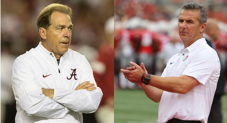 Alabama's Nick Saban and Ohio State's Urban Meyer