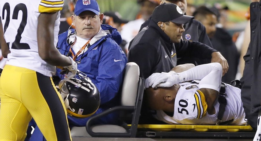 Ryan Shazier was carted off the field on Monday night.