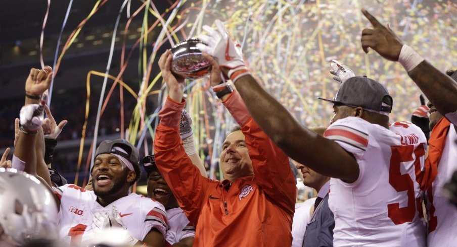 Urban Meyer led Ohio State to its 37th Big Ten championship (2010 counts, I saw it).