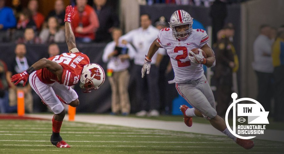 Two more years of J.K. Dobbins should be fun (Trevor Ruszkowski-USA TODAY Sports)