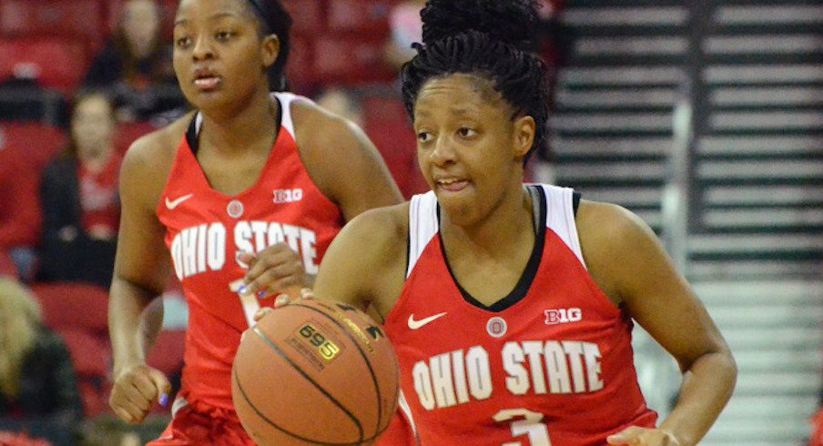 Kelsey Mitchell led the way for Ohio State in her home town.