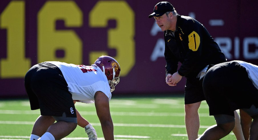 USC defensive coordinator Clancy Pendergast is looking for discipline from his defense on Friday.