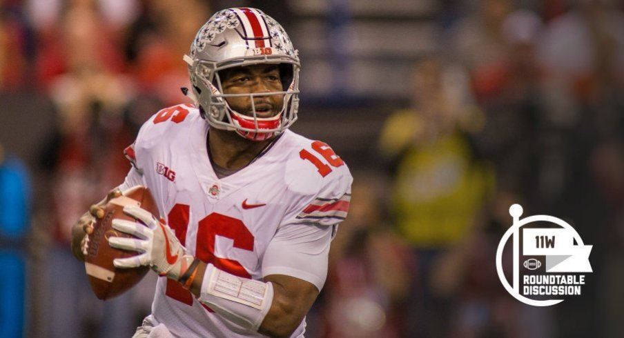 It's hard to believe but just 60 minutes remain in J.T. Barrett's Ohio State career. (Photo: Trevor Ruszkowski-USA TODAY Sports)