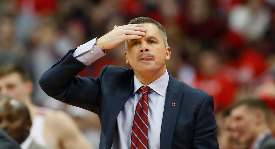 Chris Holtmann coaches Ohio State to upset of Michigan State.