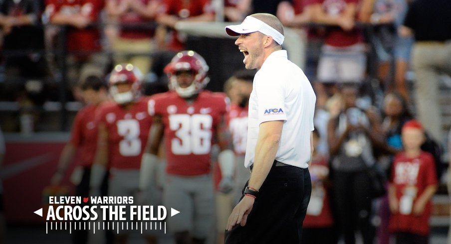 New Ohio State assistant coach Alex Grinch will bring intensity to Columbus, according to Washington State beat writer Stefanie Loh.