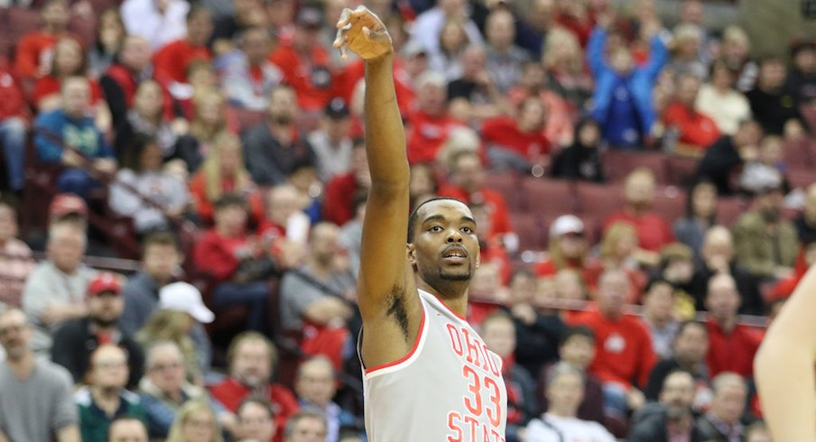 Ohio State hit 17 three-pointers against Maryland.