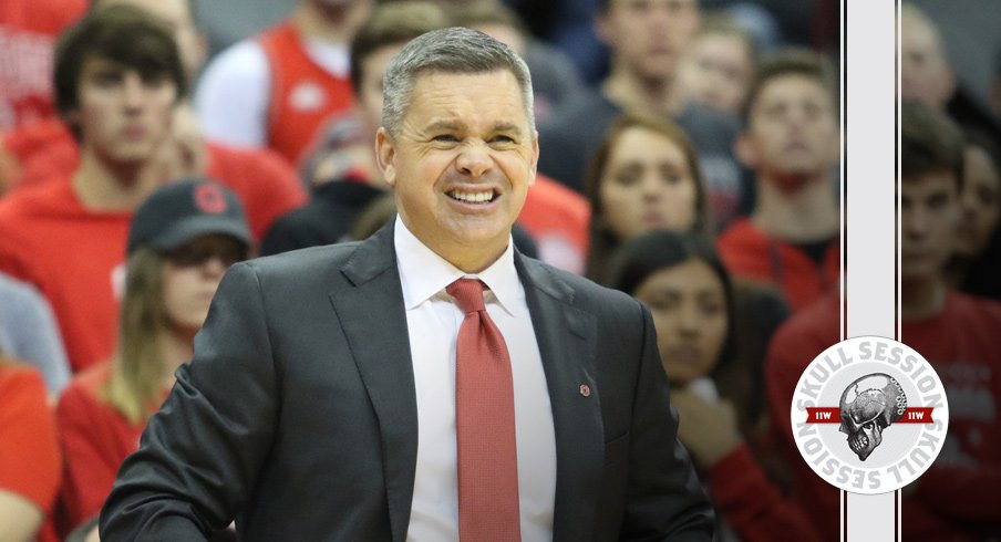 Chris Holtmann winces at the January 17th 2017 Skull Session