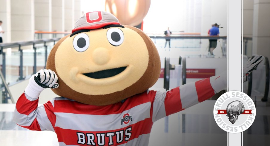 Brutus Buckeye flexes for the January 18th 2017 Skull Session
