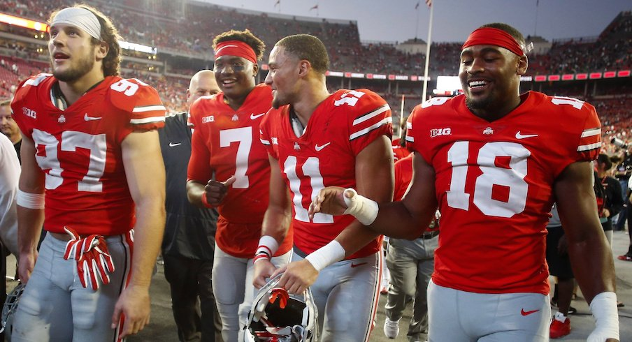 Nick Bosa (97), Dwayne Haskins (7), Austin Mack (11) and Jonathon Cooper (18) could all play big roles for Ohio State in 2018.