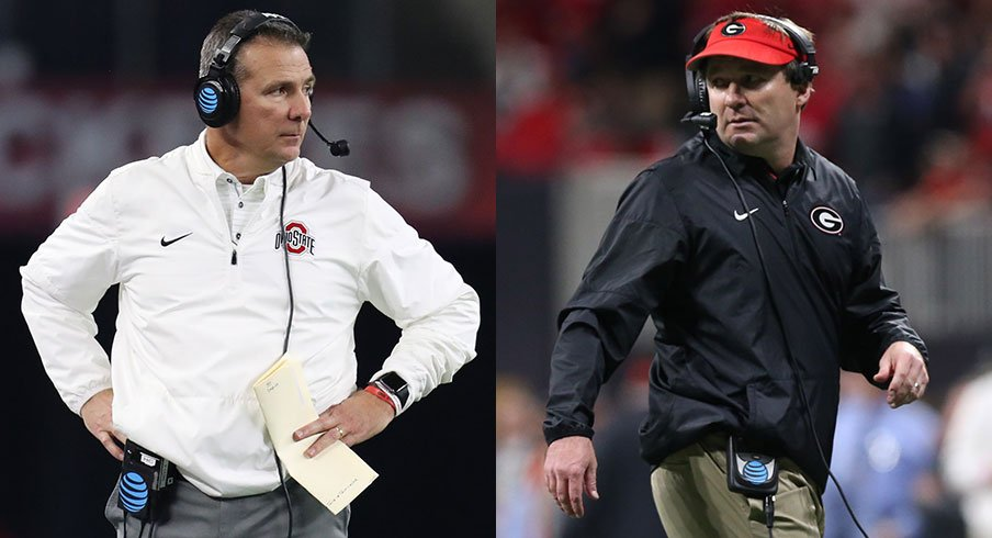 Urban Meyer and Kirby Smart