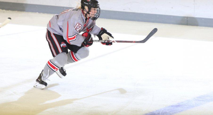 Freshman Emma Maltais netted the game winning goal in the Buckeyes' twentieth victory of the season.
