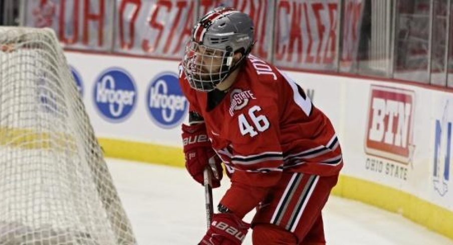 Matt Joyaux scored the game winning goal as the Buckeyes toppled the No. 1 Fighting Irish.