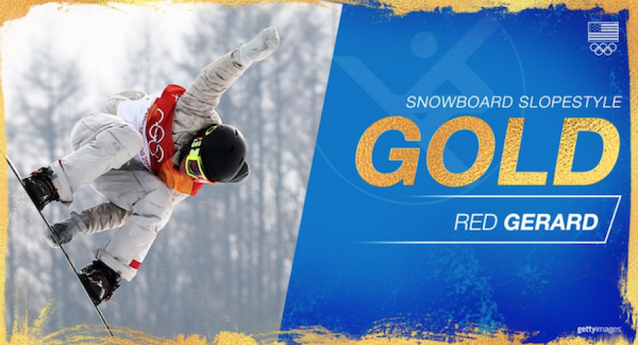 Red Gerard takes gold.