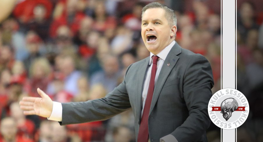 Chris Holtmann signals to the February 12th 2018 Skull Session.