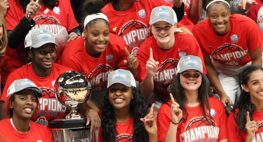 Ohio State celebrates its Big Ten championship.