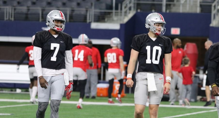 Ohio State quarterbacks Dwayne Haskins and Joe Burrow