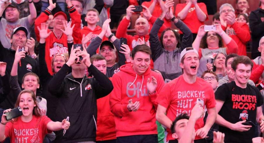 Ohio State fans at the Schottenstein Center