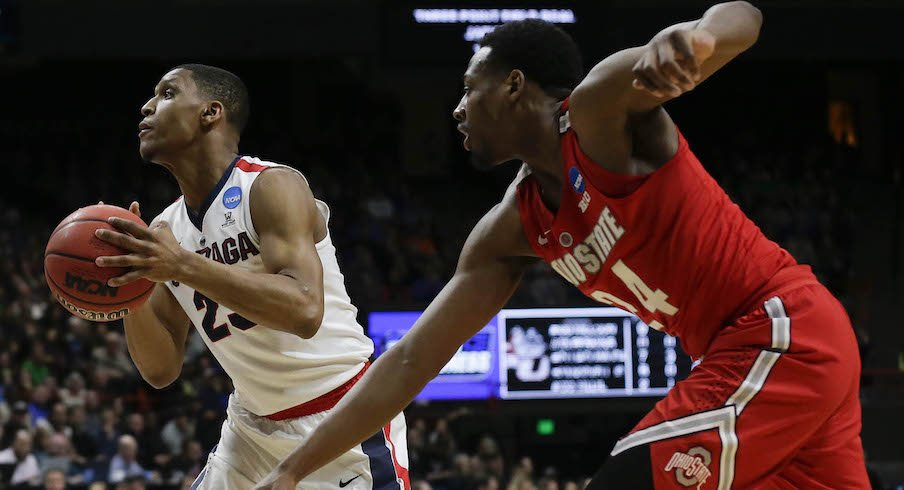 Andre Wesson getting beat on defense by Gonzaga's Zach Norvell Jr.
