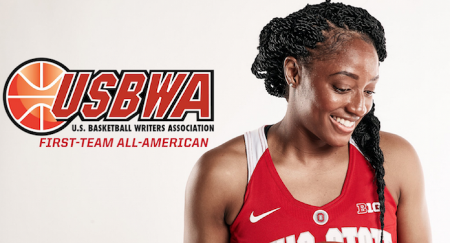 Kelsey Mitchell named first team All-American.