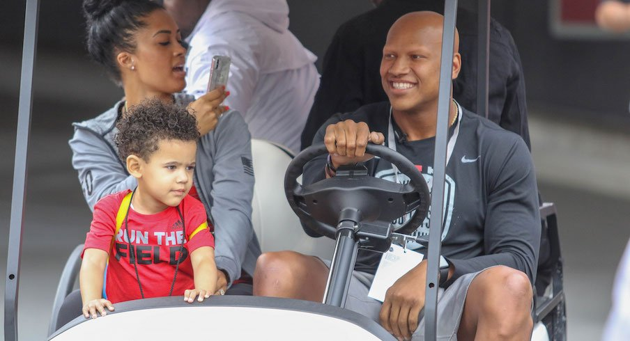 Ryan Shazier with his fiancee, Michelle, and son, Ryan