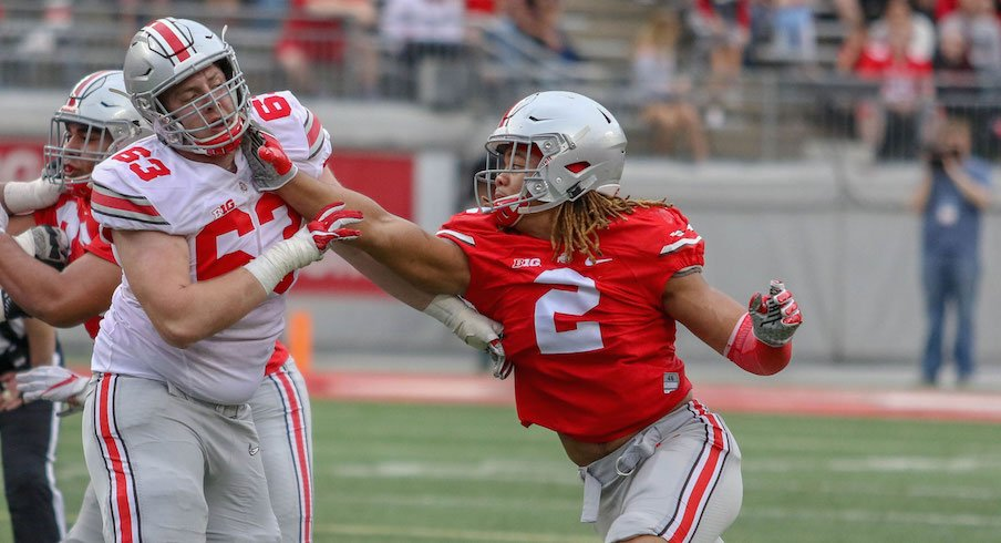 Spring Game Quotebook Chase Young Already Preparing For Fall Justin Hilliard Still Looking To Improve And Dwayne Haskins Excited About 2018 Buckeyes Eleven Warriors