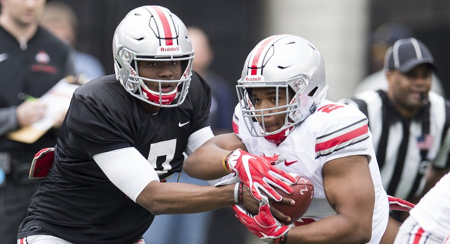 Dwayne Haskins and J.K. Dobbins