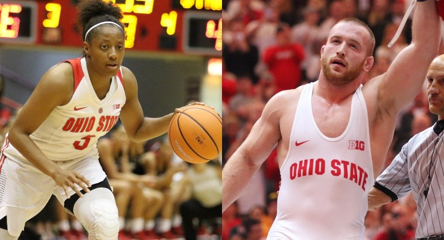 Kelsey Mitchell and Kyle Snyder