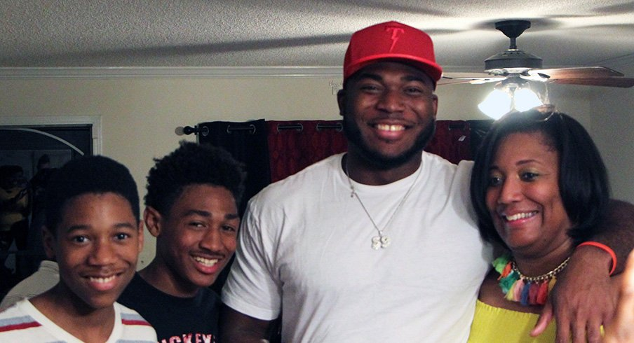 Tyquan Lewis and family at home for the NFL Draft