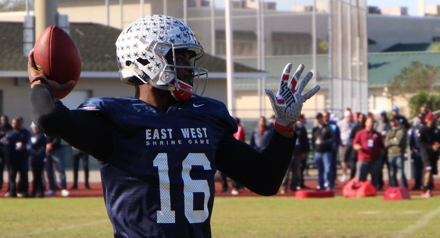 J.T. Barrett at the East-West Shrine Game