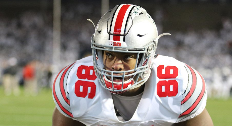 Dre'Mont Jones is an anchor for the Ohio State football team.