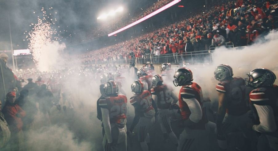 The Buckeyes head out of the tunnel at Ohio Stadium