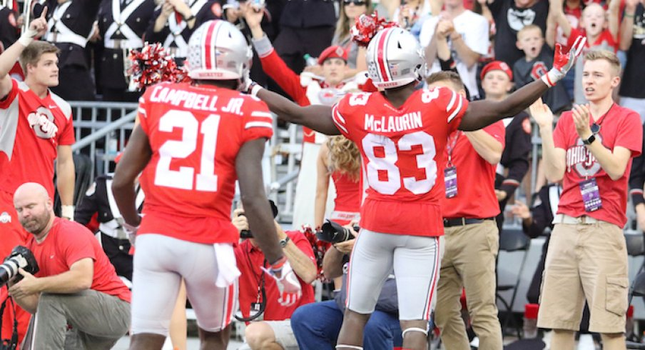 Parris Campbell and Terry McLaurin are entering their third years.