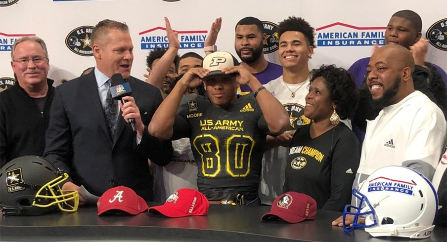 Purdue signee Rondale Moore had offers from all of the national powers.