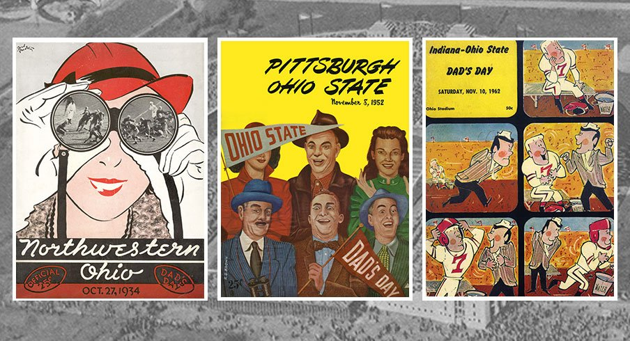 Dad's Day game program covers throughout Ohio State football history