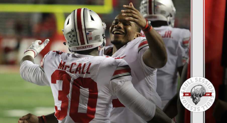 Demario McCall and J.K. Dobbins welcome me to the Skull Session.
