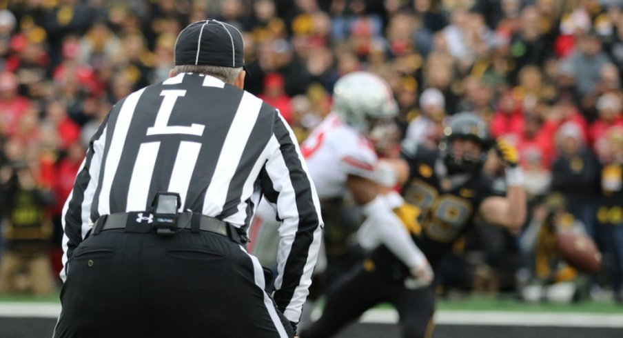 The Buckeyes committed nine penalties for 95 yards at Iowa.