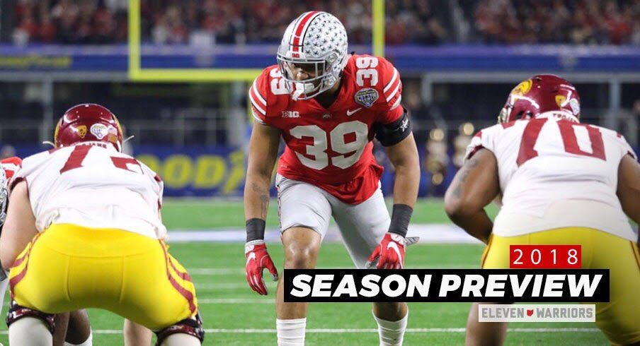 Malik Harrison enters his junior year with 49 career tackles and has played in 26 games for the Buckeyes over the past two seasons.