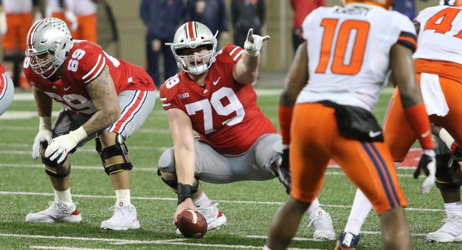 Ohio State has been giving Brady Taylor, Michael Jordan and Josh Myers reps at center.