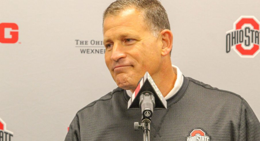 Defensive coordinator Greg Schiano addressed the media Monday afternoon at the Woody Hayes Athletic Center.