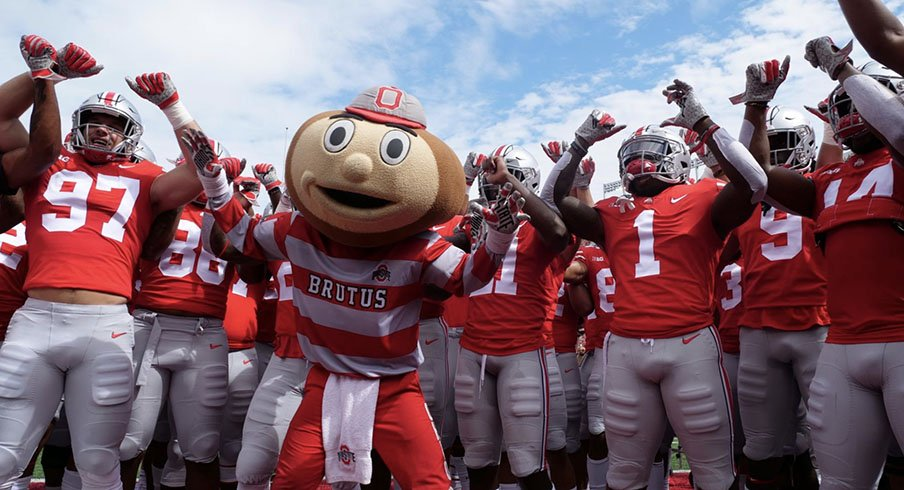 Brutus Buckeye and the 2018 Buckeyes