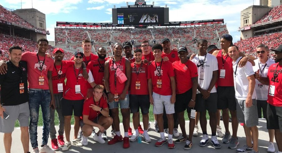 Four-star recruit EJ Lidell was in Columbus this past weekend, making an official visit.
