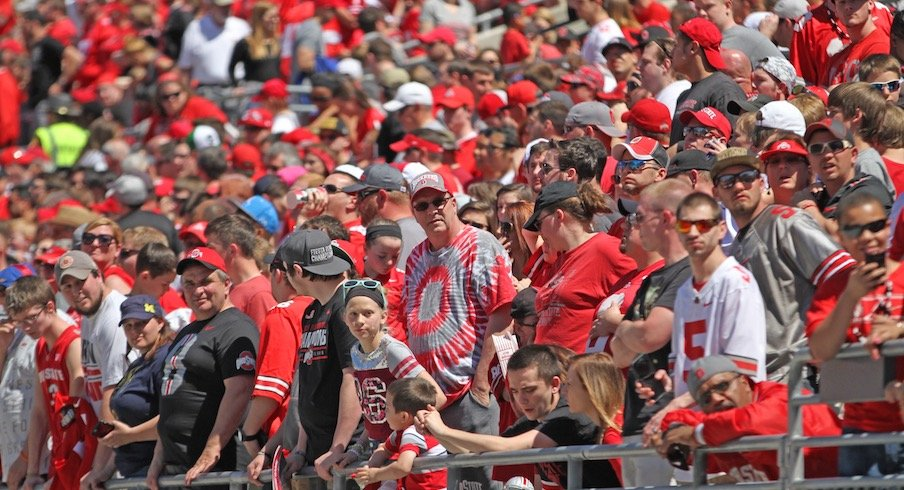 Ohio State had less than 100,000 fans