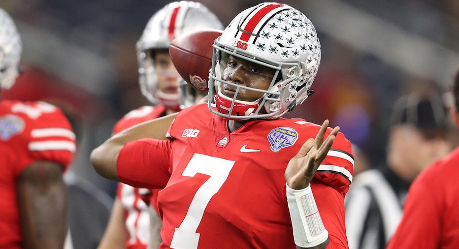 Dwayne Haskins at the 2017 Cotton Bowl in AT&T Stadium.